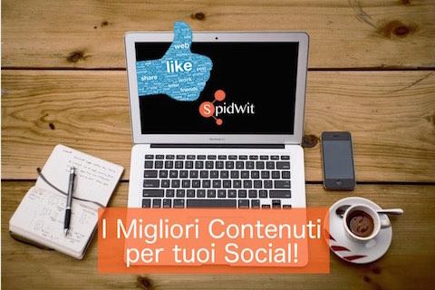 Spidwit: i migliori contenuti per i tuoi social