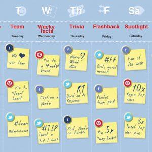 Un esempio di calendario editoriale