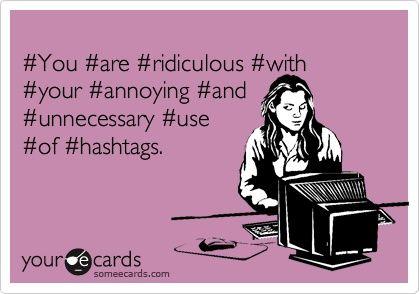 troppi hashtag