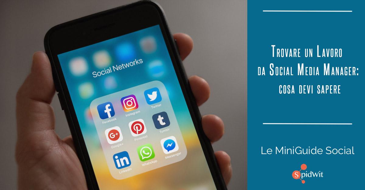 Titolo: trovare un lavoro da social media manager