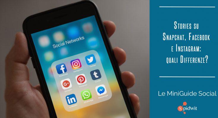 Titolo: Stories su Snapchat, Facebook, Instagram