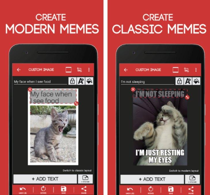 App creare meme