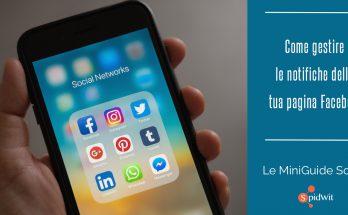 gestire le notifiche della tua pagina Facebook