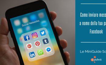 Inviare messaggi pagina Facebook