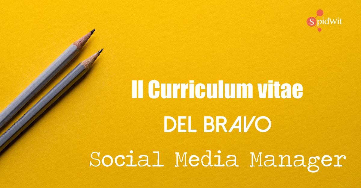 Il Perfetto Curriculum Vitae Del Social Media Manager