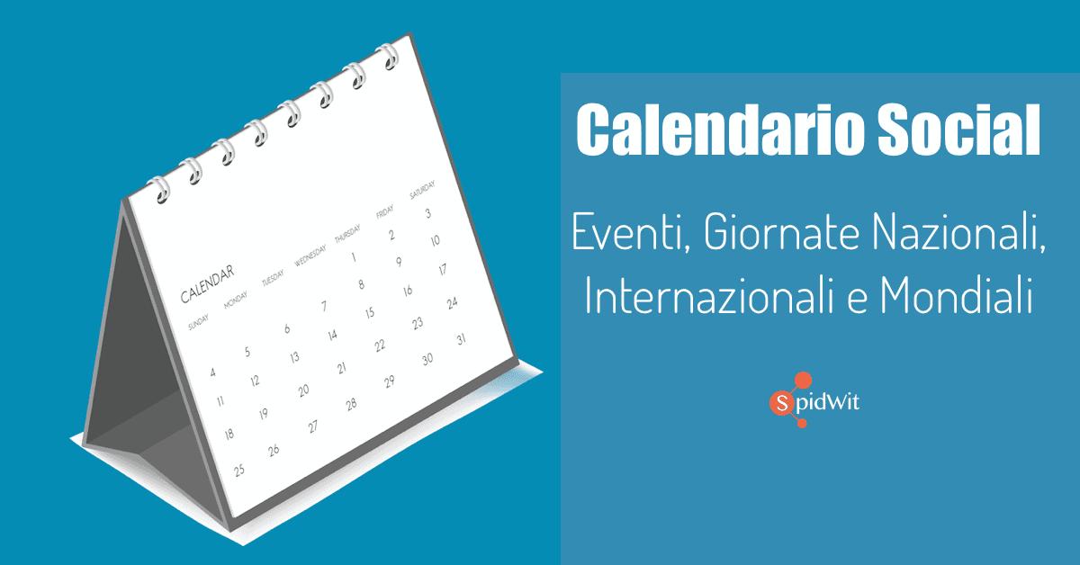 Calendario Aprile 2018 Con Festivita.Calendario Social Media Manager Giornate Nazionali