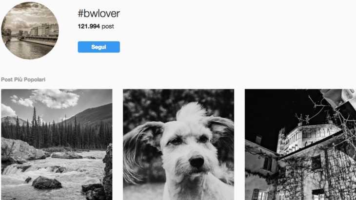 aumentare like su Instagram con gli hashtag