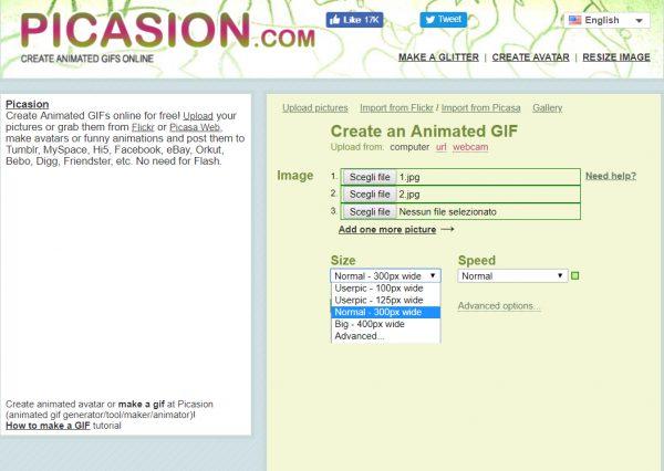 Picasion: quarto tool per creare GIF