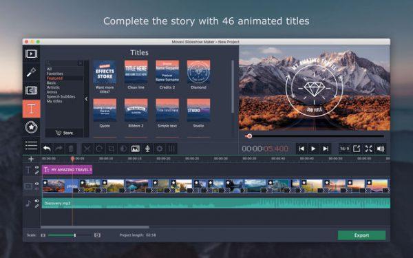 video editing con movavi
