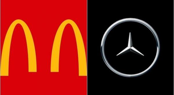 loghi McDonald's Mercedes